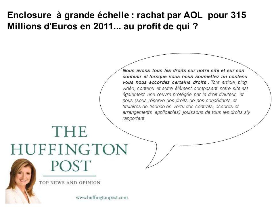 Le site est racheté en 2011 par AOL pour 315 millions d euros[1].